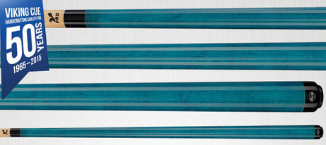 Viking Cues A202 Teal Stain Pool Billard Queue, Billardqueue Made in USA, blau