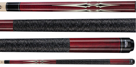 VA232 Pool Billard Queue, Maroon Stain, Billardqueue Valhalla by Viking