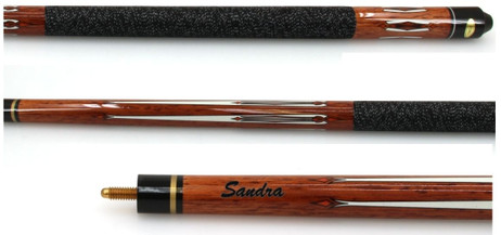 Pool cue tycoon brown, long lasting billiard cue with engraving, gift - idea