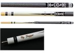 White Scorpion - Maple Pool Cue with Tattoo Design, Gift Idea with Engraving