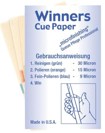 Winners Cue Paper