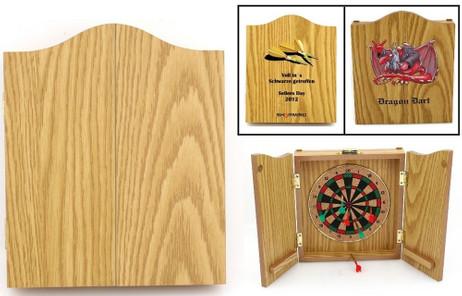 Beautiful Mini-Dart Game in wooden Case with individual 4c-Digitalprint