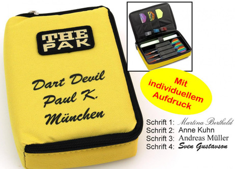 The Pak yellow, Dart Bag with imprint (without Equipment)