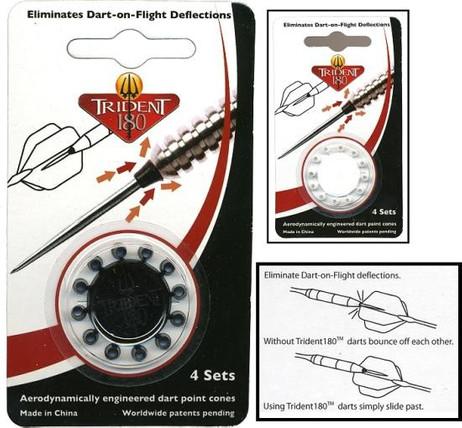 Trident 180 für weniger Dartablenkung beim Steeldart (12 Stück)