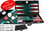 Large Backgammon Tournament Suitcase noble execution with engraving, gift idea