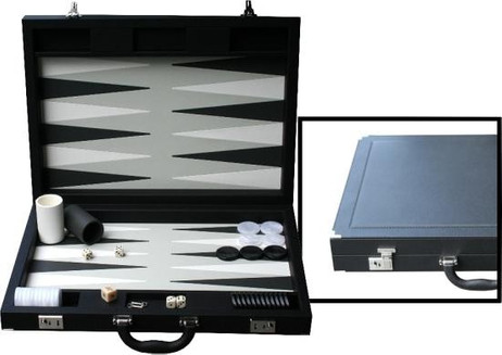 Design Backgammon Case Dal Negro, black