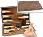 Dal Negro Nuovo Noce, Backgammon made from walnut  with maple inlays 001