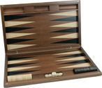 Dal Negro Oxford, exclusive large wood backgammon with engraving, gift - idea Image 5