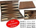 Dal Negro Oxford, exklusives, großes Holz Backgammon mit Gravur, Geschenk - Idee
