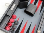Backgammon Cosmos Black Medium, Alcantara Mikrofaserstoff, Hector Saxe, Paris