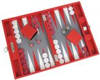 Backgammon BUFFALO B20L Rouge Medium, Alcantara playground, Hector Saxe, Paris Image 1