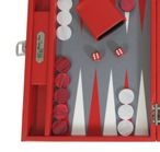 Backgammon BUFFALO B20L Rot Medium, Alcantara Spielfeld, Hector Saxe, Paris Bild 4