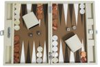 Backgammon CARBONE B21L Sable Medium, Alcantara Spielfeld, Hector Saxe, Paris Bild 1
