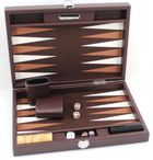 Backgammon BUFFALO B20L Brown Medium, Alcantara Spielfeld, Hector Saxe, Paris Bild 3