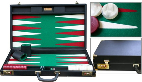 DOUBLE SIX 01 Backgammon, Handarbeit Made in Germany
