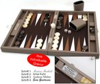 Backgammon BUFFALO B20L Terre Medium Hector Saxe Paris mit Gravur, Geschenk Idee 001