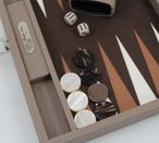 Backgammon BUFFALO B20L Terre Medium Alcantara Hector Saxe Paris incl. Engraving Image 2