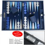 Backgammon BUFFALO B20L Nuit Medium Alcantara Hector Saxe Paris incl. Engraving