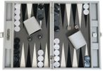 Backgammon CARBONE B21L Gris Medium Alcantara Hector Saxe Paris incl. Engraving