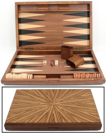 Backgammon Mykonos, gross 1127 von Philos mit Magnetverschluss und Intarsien