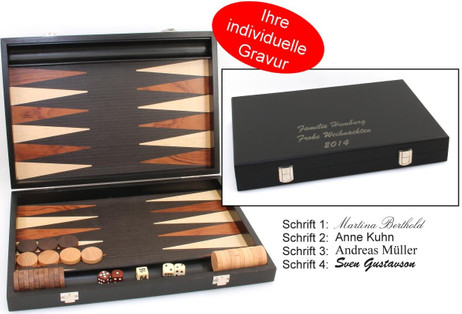 Backgammon Milos medium 1163, from Philos with inlaid work, engraved item