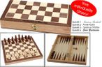 Chess - Backgammon cassette game with individual engraving, gift - idea 001