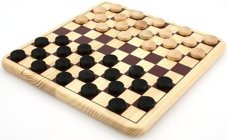 Original Dame Spiel Standard mit 10 x 10 Feldern
