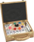 Domino MEXICAN TRAIN DOUBLE-15, wooden box