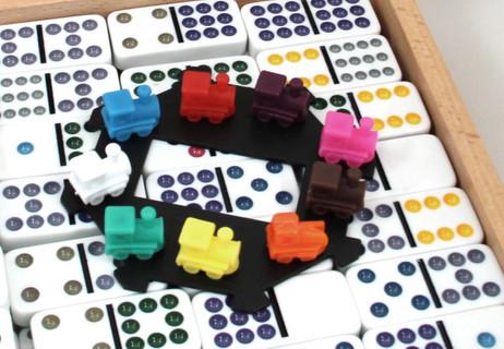 Mexican Train Domino mit hochwertigem Holz Koffer, Doppel ...