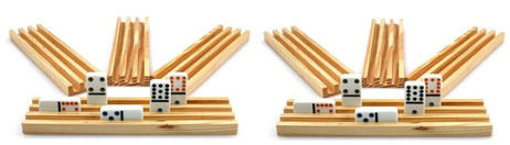 Domino Rails (8 pieces) from solid wood