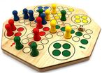 Double-sided Ludo XL board for 4 or 6 players, steady quality