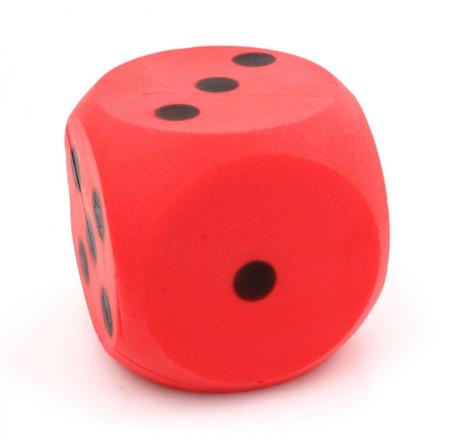 Riesen Schaumstoffwürfel in rot, Würfel mit 15 cm Kantenlänge