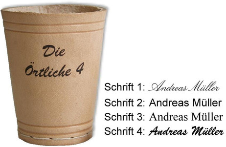 Leather dice cup, gift idea with individual engraving