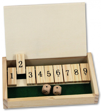 Mini Shut the Box, 9-er Variante 1 - 9, Würfelspiel
