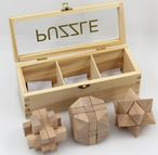 IQ Puzzle wood, 3 different wood puzzle with wooden box Image 3