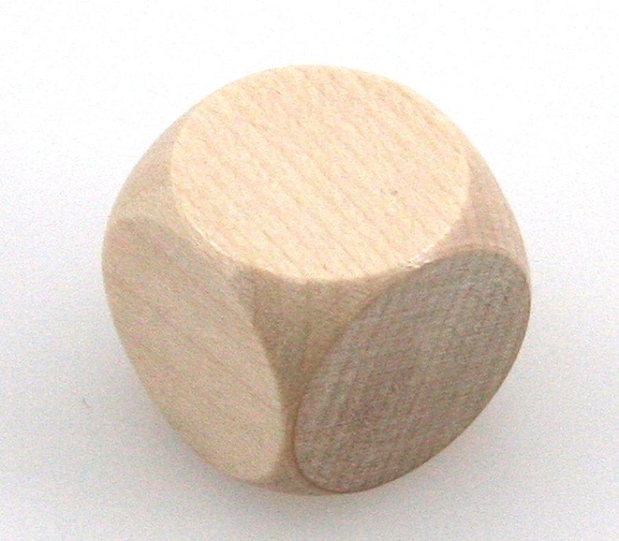 Würfel Rohling aus Holz