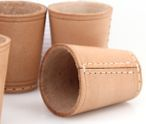 Ludomax 325134 10 piece of Dice cup, Leather, 9cm nature Image 3