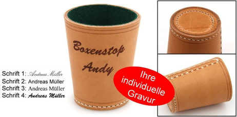 Dice cup Ludomax Exclusiv, Premium Made in Germany with engraving, Gift Idea