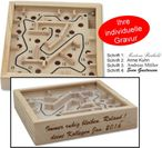 Mini Labyrinth, game of skill, incl. Engraving Image 1