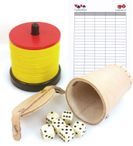 Shock set with shock cutlery, 5 dice cups, dice and game block 001