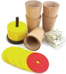 Shock set with shock cutlery, 5 dice cups, dice and game block Image 3