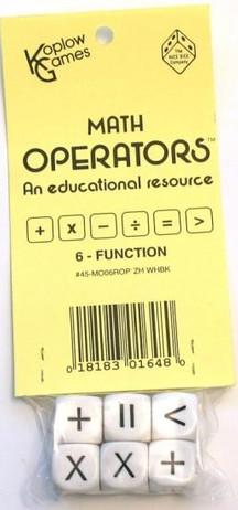 Education - Math - Dice - Set, 6 math operators dice