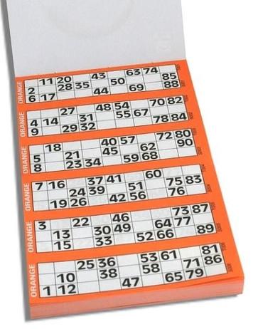 Bingo Karten, Ticket - Block, für 1-90 Bingo Spiel