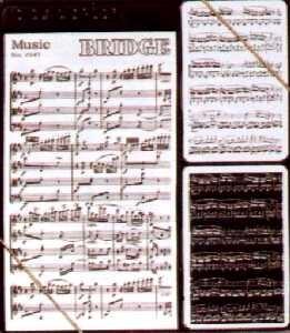 Music, Spielkarten Bridge Set