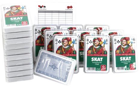 SKAT Spielkarten Club, Zwanzigerpaket von ASS im Set mit Ludomax Block
