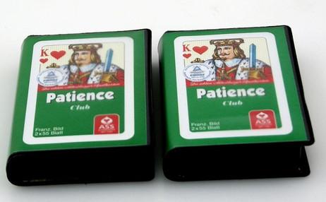 Zweierpaket Patience Französisches Bild ASS Qualität Spielkarten, 36 x 54 cm