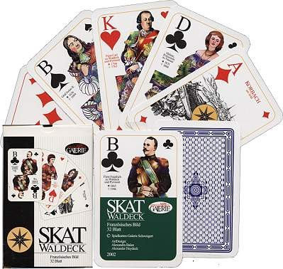 SKAT WALDECK, german playing cards