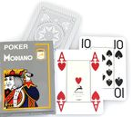 Poker 4J Gray  von MODIANO, professionelle 100% plastic Casino Pokerkarten 001