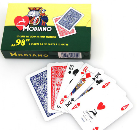 Ramino - Poker 98 by MODIANO, Romme - Bridge playing cards