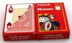 Zweierpaket Poker von Modiano, 100% plastic, 4 Jumbo Index, Farbe rot
